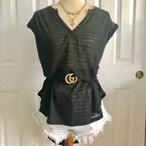 NWT. FP black blouse